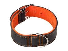 Collar Arppe cuir Choppers negre/taronja