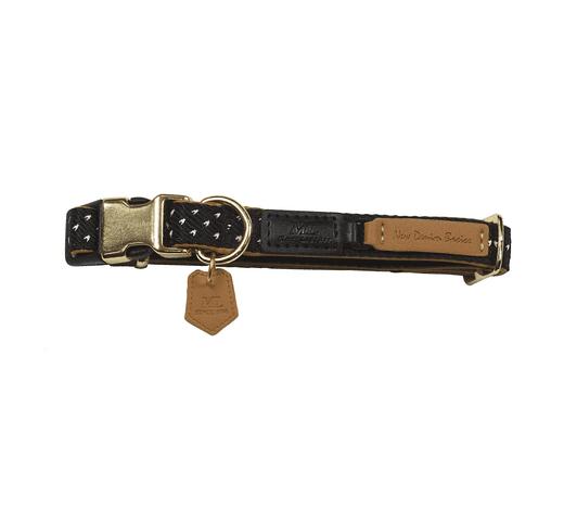 Collar Mac Leather monaco negre 15mmx30-40cm 1