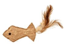 Ratolí de joguina Nayeco peix suro amb ploma 9,5cm