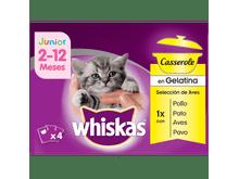 Aliment humit Whiskas gat cadell casserole aus 4x85gr