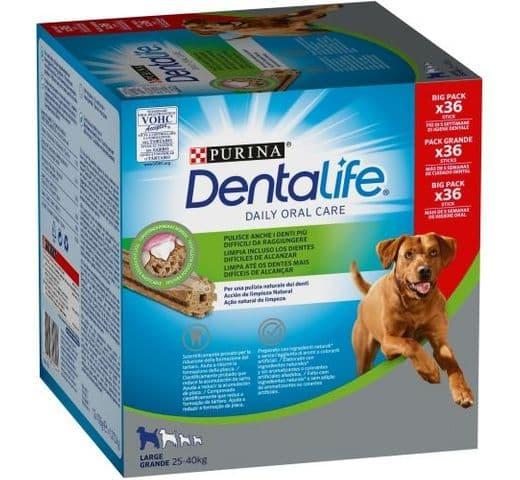 Snack dental Friskies Purina gos gran Dentalife pack (36un) 1