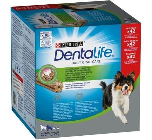 Snack dental Friskies Purina gos mitjà Dentalife pack (42un) 1