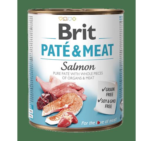 Aliment humit Brit Dog pate & meat salmó 800gr 1