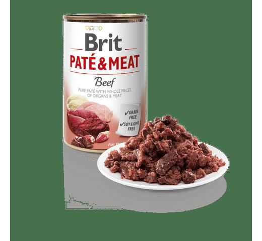 Aliment humit Brit Dog pate & meat vedella 1