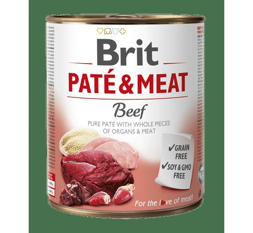 Aliment humit Brit Dog pate & meat vedella 800gr 1