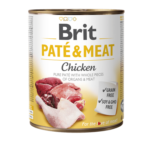 Aliment humit Brit Dog pate & meat pollastre 800gr 1