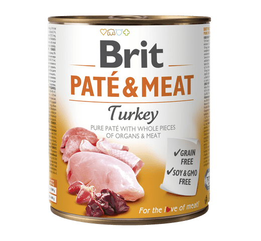 Aliment humit Brit Dog pate & meat gall dindi 800gr 1