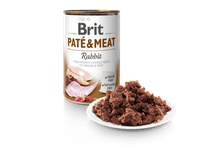 Aliment humit Brit Dog pate & meat conill