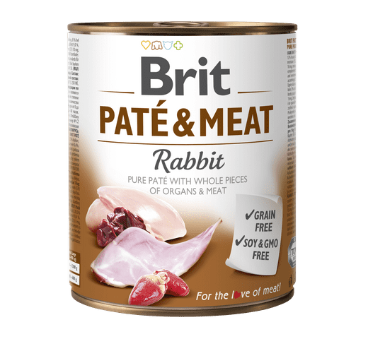 Aliment humit Brit Dog pate & meat conill 800gr 1