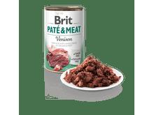 Aliment humit Brit Dog pate & meat cèrvol