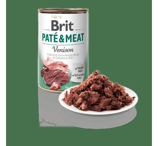 Aliment humit Brit Dog pate & meat cèrvol 400gr 1