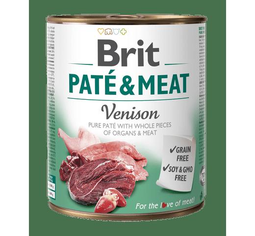 Aliment humit Brit Dog pate & meat cèrvol 800gr 1