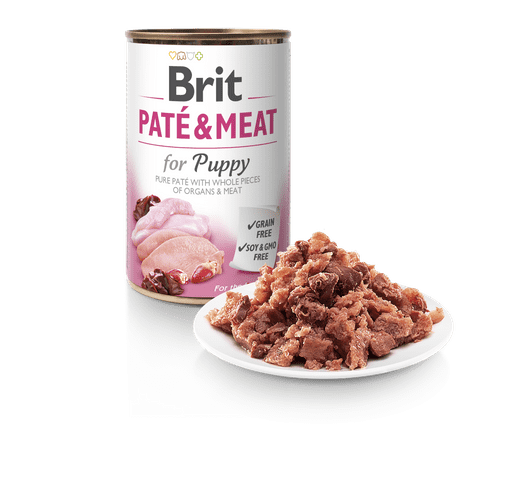 Aliment humit Brit Dog pate & meat puppy 1