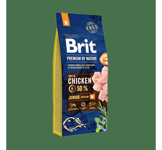 Pinso Brit Premium dog nature junior M 15kg 1