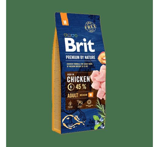 Pinso Brit Premium dog nature adult M 15kg 1