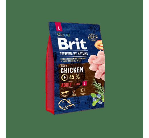 Pinso Brit Premium dog nature adult L 3kg 1