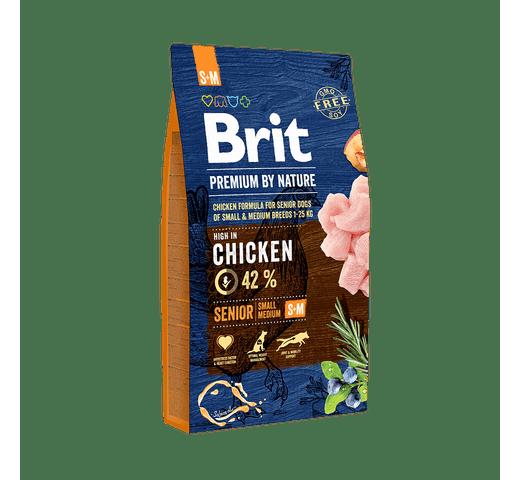 Pinso Brit Premium dog nature senior S-M 8kg 1