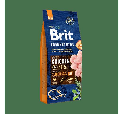 Pinso Brit Premium dog nature senior S-M 15kg 1