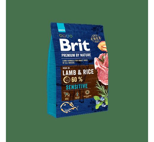 Pinso Brit Premium dog nature sensitive xai 3kg 1