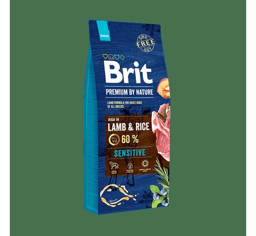 Pinso Brit Premium dog nature sensitive xai 15kg 1