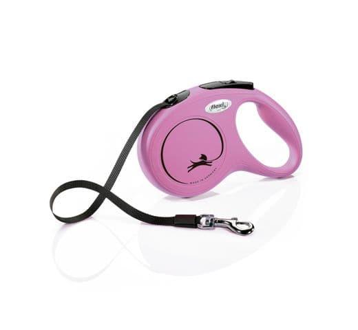 Corretja extensible Flexi classic cinta rosa 1