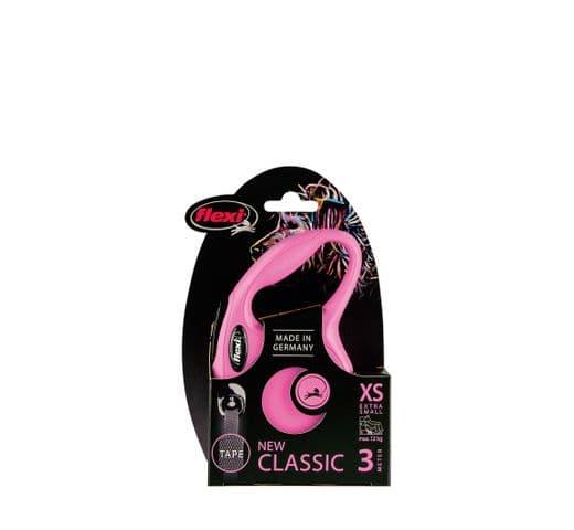 Corretja extensible Flexi classic cinta rosa XS 3m 1