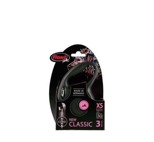 Corretja extensible Flexi classic cordó negre XS 3m 2
