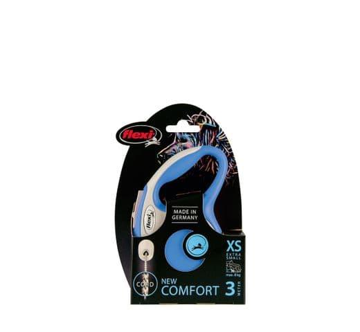 Corretja extensible Flexi comfort cordó blau XS 3m 2
