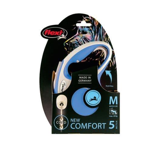 Corretja extensible Flexi comfort cordó blau M 5m 1