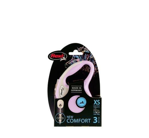 Corretja extensible Flexi comfort cordó rosa XS 3m 2