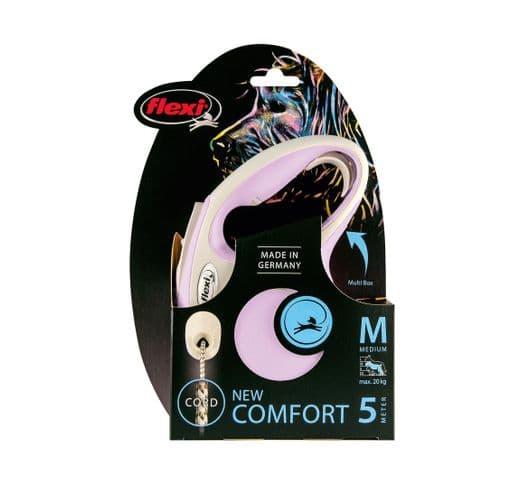 Corretja extensible Flexi comfort cordó rosa M 5m 1