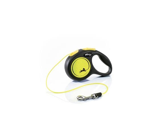 Corretja extensible Flexi neó cordó groc XS 5m 1