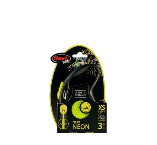Corretja extensible Flexi neó cordó groc XS 5m 2