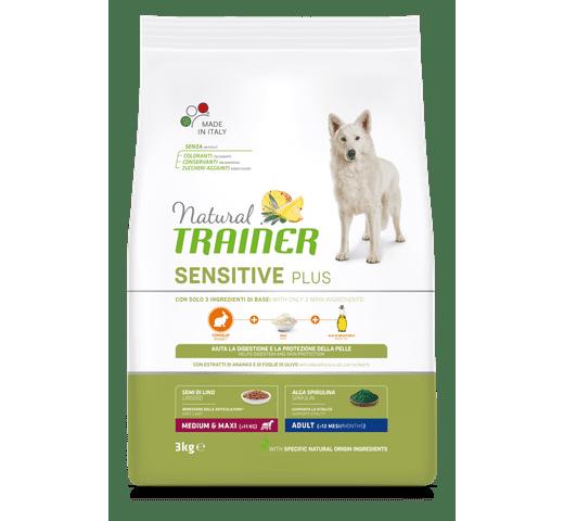 Pinso Natural Trainer gos sensitive plus medium maxi conill 1