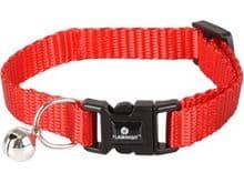 Collar Flamingo gatet ziggi vermell 15-22cm 10mm