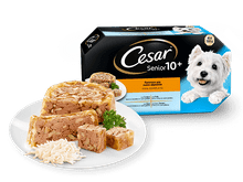 Aliment humit Cesar sènior terrines 4x150gr