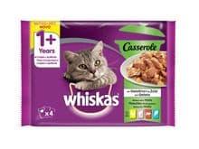 Aliment humit Whiskas gat casserole mixtes 4x85gr
