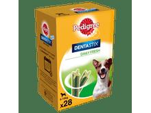 Snack dental Pedigree gos petit dentastix fresh caixa (28un) 110gr caixa