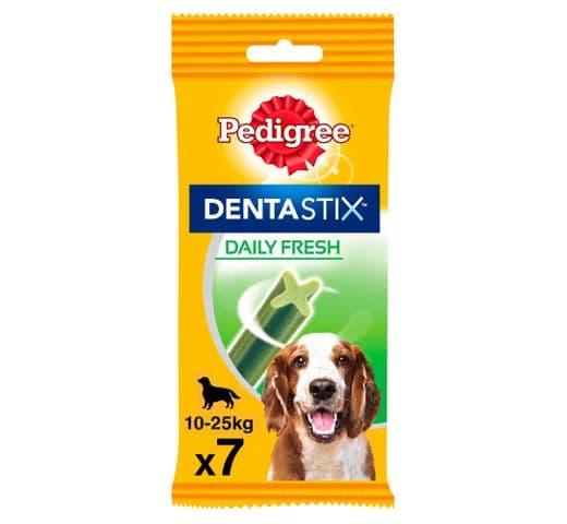 Snack dental Pedigree gos mitjà dentastix fresh (7un) 180gr 1
