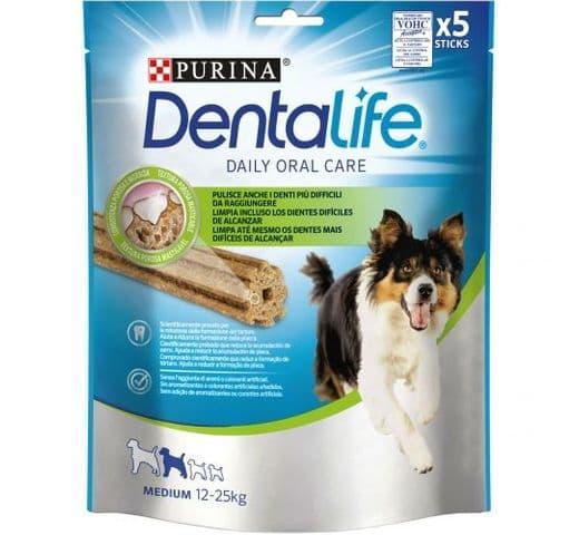 Snack dental Friskies Purina gos mitjà Dentalife 1