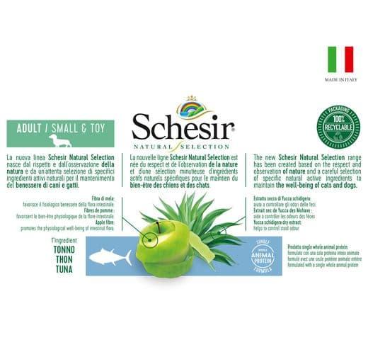 Pinso Schesir Natural Selection gos mini tonyina 3