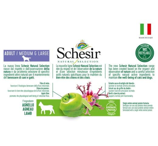 Pinso Schesir Natural Selection gos medium & large xai 4