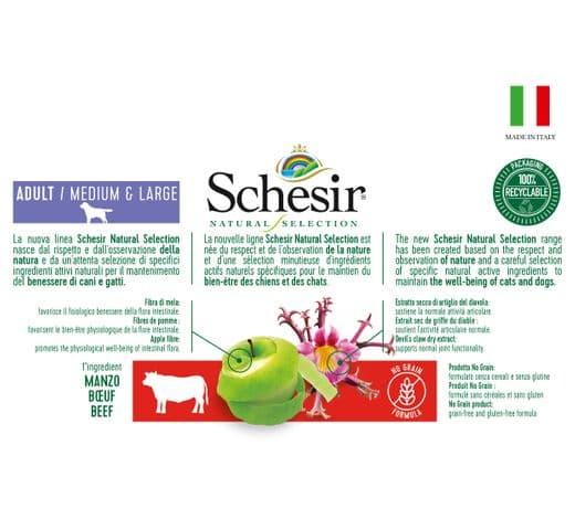 Pinso Schesir Natural Selection gos medium & large GF bou 4