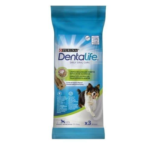 Snack dental Friskies Purina gos mitjà Dentalife (3un) 1
