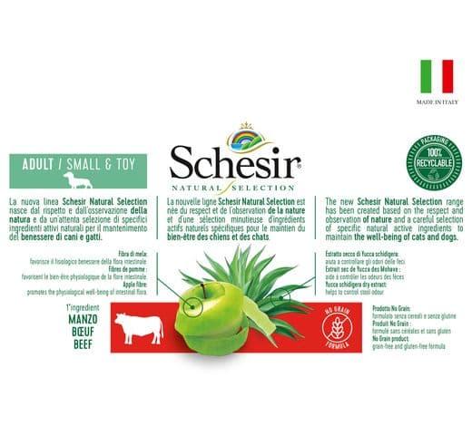 Pinso Schesir Natural Selection gos mini GF bou 4