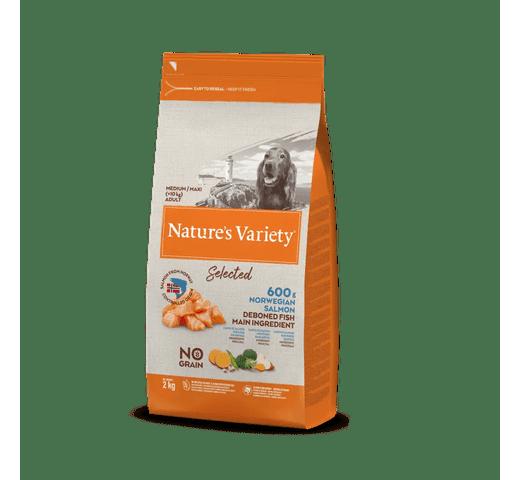 Pinso Natures Variety (True Instinct) gos selected medium-maxi adult salmó 2kg 1