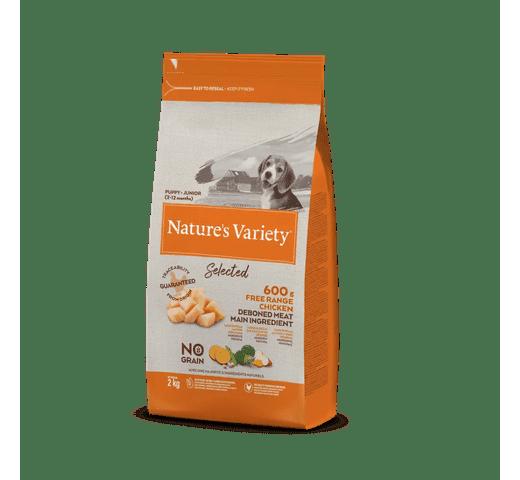 Pinso Natures Variety (True Instinct) gos selected junior pollastre fresc 1