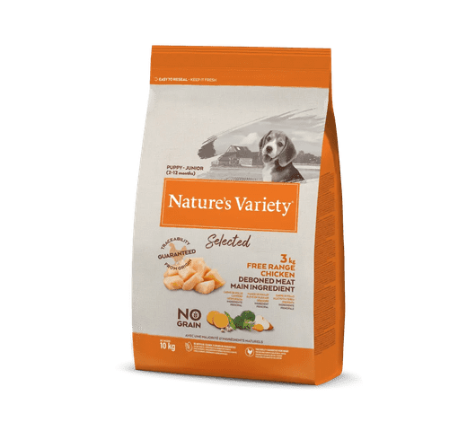 Pinso Natures Variety (True Instinct) gos selected junior pollastre fresc 10kg 1