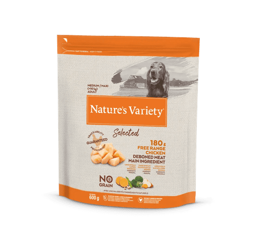 Pinso Natures Variety (True Instinct) gos selected medium-maxi adult pollastre 0,6kg 1
