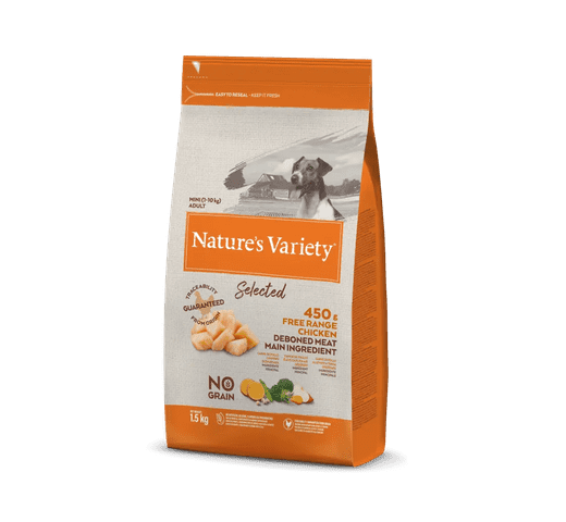 Pinso Natures Variety (True Instinct) gos selected mini adult pollastre 1,5kg 1